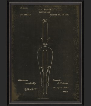 BC Edison Patent US 248418 on Black Sm