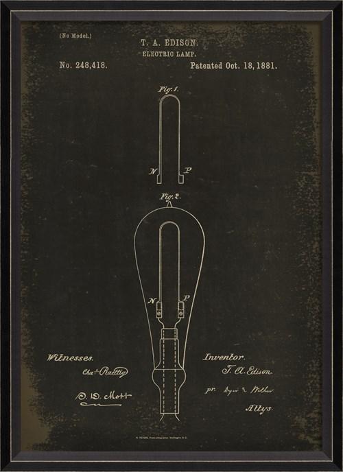 BC Edison Patent US 248418 on Black Sm