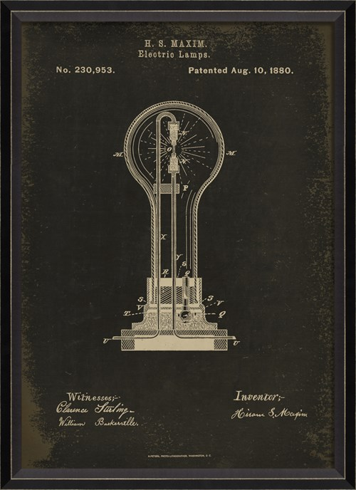 BC Maxim Patent US 230953 on Black Sm