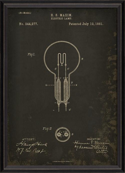 BC Maxim Patent US 244277 on Black Sm