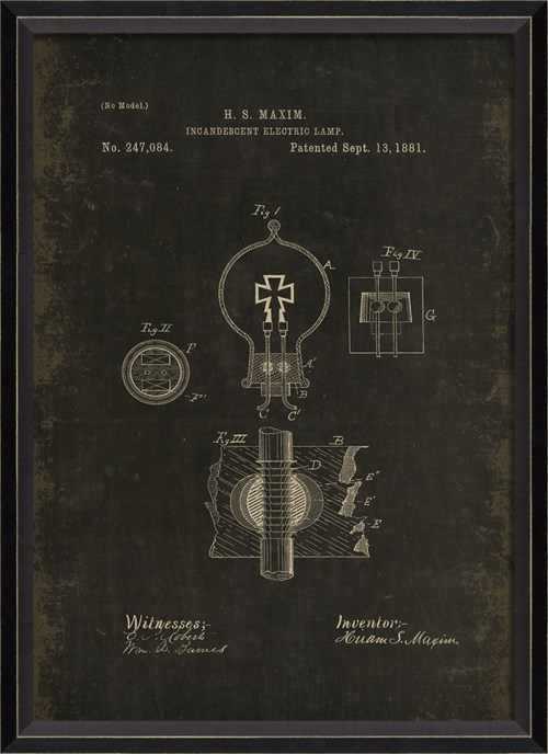 BC Maxim Patent US 247084 on Black Sm