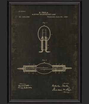 BC Tesla Patent US 455069 on Black Sm
