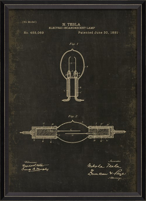 BC Tesla Patent US 455069 on Black Sm