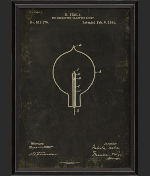 BC Tesla Patent US 514170 on Black Sm