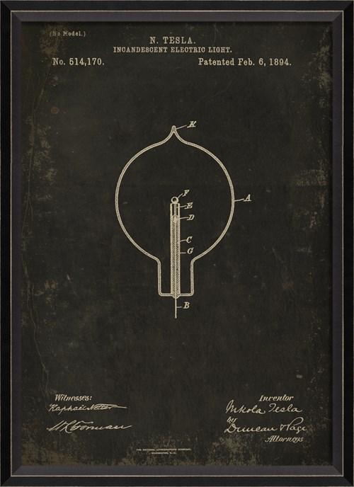 BC Tesla Patent US 514170 on Black Sm