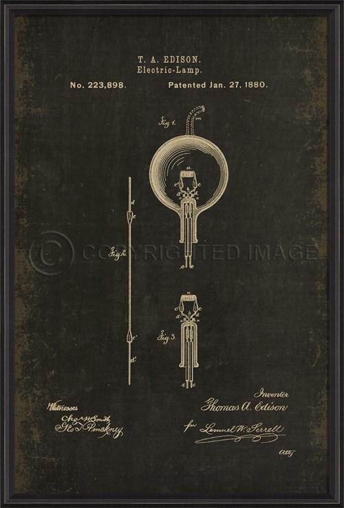 BCBL Edison Patent US 223898 on Black xl