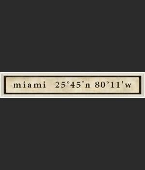 WC Miami Coordinates