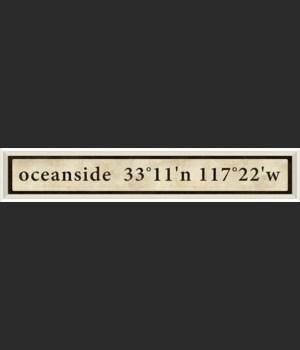 WC Oceanside Coordinates
