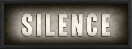 EB Theater Sign Silence