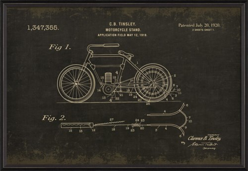 BC Tinsley Motorcycle 1347355 black med