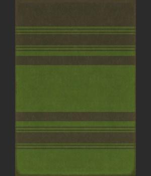 Pattern 50 Organic Stripes Black and Green 70x102
