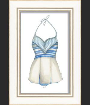 KI Swimsuit Blue Stripes