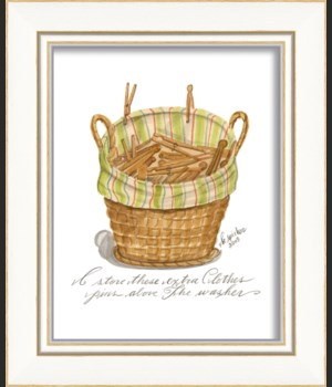KI Extra Clothes Pins Basket