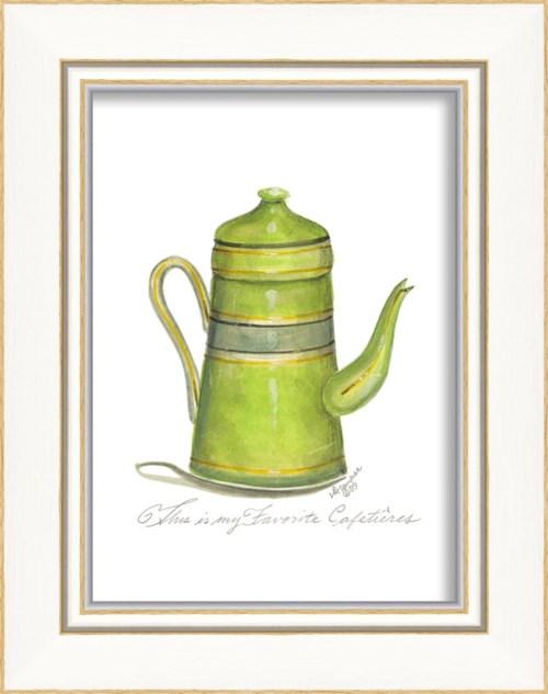 KI Green Coffee Pot