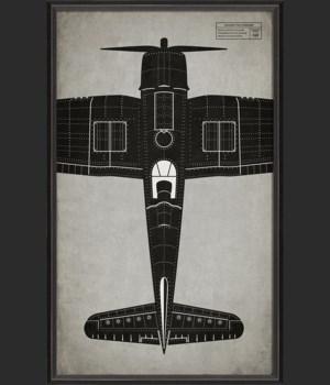 BC Airplane Vought F4U Corsair top view