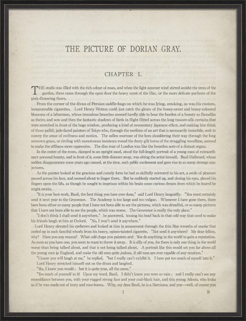 BC Literature The Picture of Dorian Gray