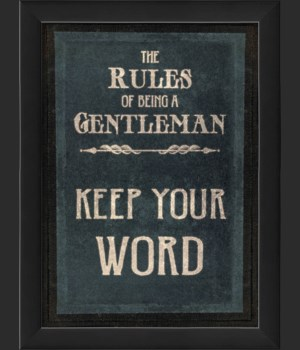EB The Rules of Being a Gentleman KEEP YOUR WORD