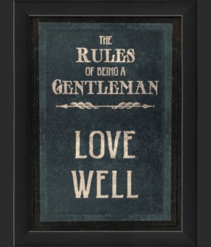 EB The Rules of Being a Gentleman LOVE WELL