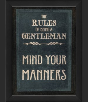 EB The Rules of Being a Gentleman MIND YOUR MANNERS