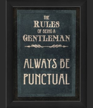 EB The Rules of Being a Gentleman PUNCTUAL