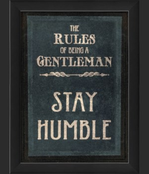 EB The Rules of Being a Gentleman STAY HUMBLE