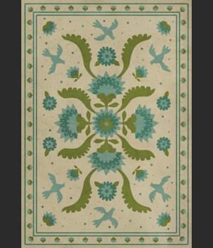 Williamsburg - Applique - Azure Moss 70x102