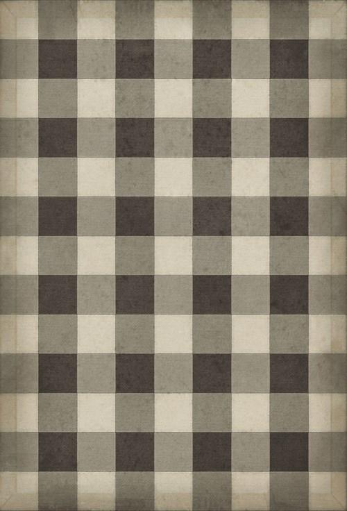 Williamsburg - Gingham Canvas - Black 38x56
