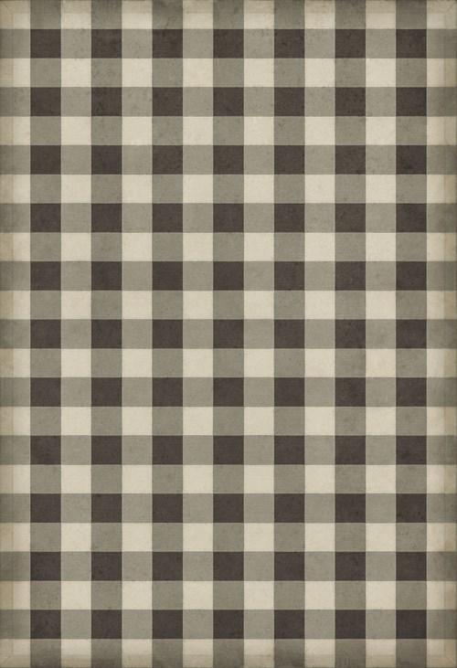 Williamsburg - Gingham Canvas - Black 52x76
