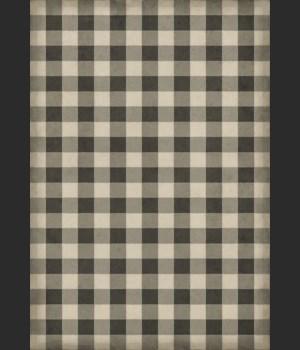 Williamsburg - Gingham Canvas - Black 70x102