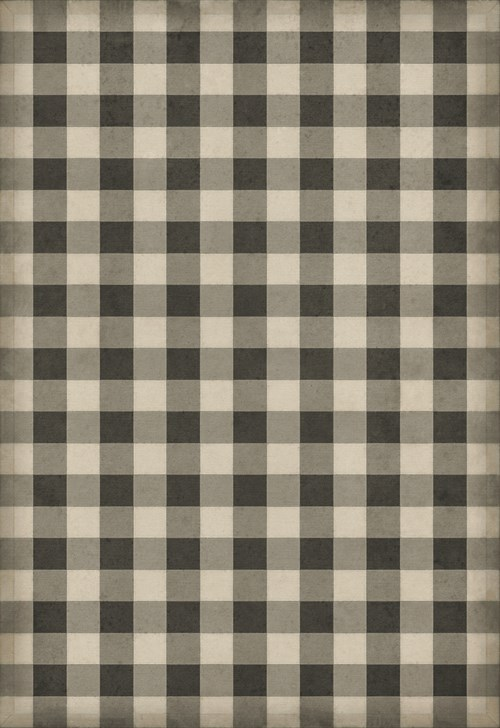 Williamsburg - Gingham Canvas - Black 70x102