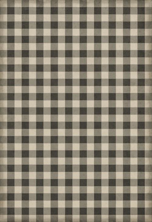 Williamsburg - Gingham Canvas - Black 120x175