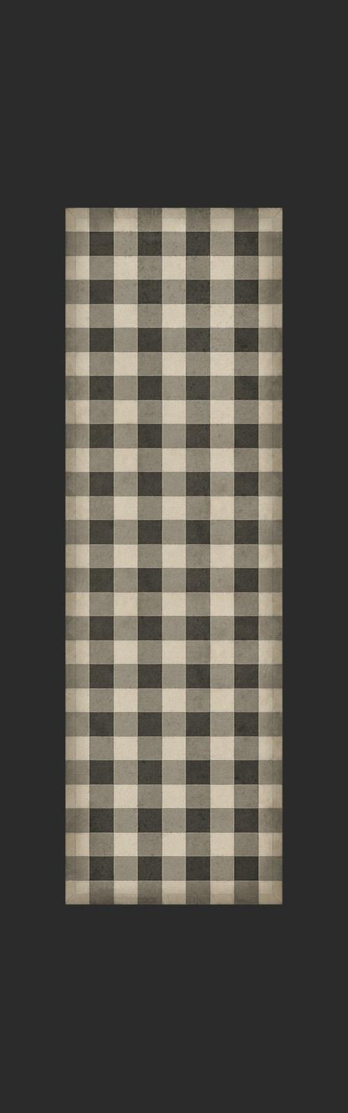 Williamsburg - Gingham Canvas - Black 36x115