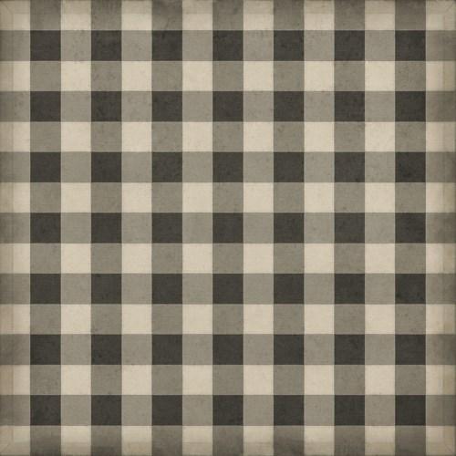 Williamsburg - Gingham Canvas - Black 60x60