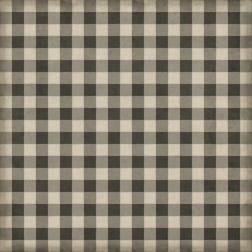 Williamsburg - Gingham Canvas - Black 120x120