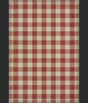 Williamsburg - Gingham Canvas - Red 70x102