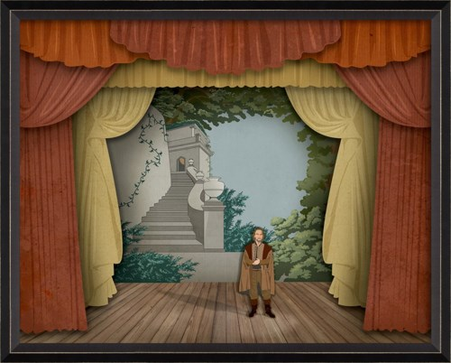 BC Theater Stage Lend Me Your Ears with characters sm