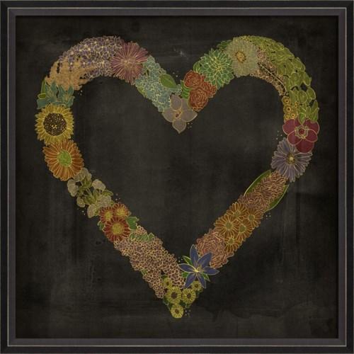 BC Flower Heart on black