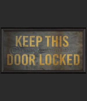 BC Keep This Door Locked