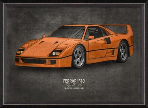 BC Ferrari F40 17x24