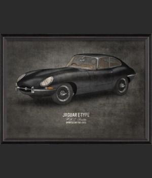 BC Jaguar E-Type 17x24
