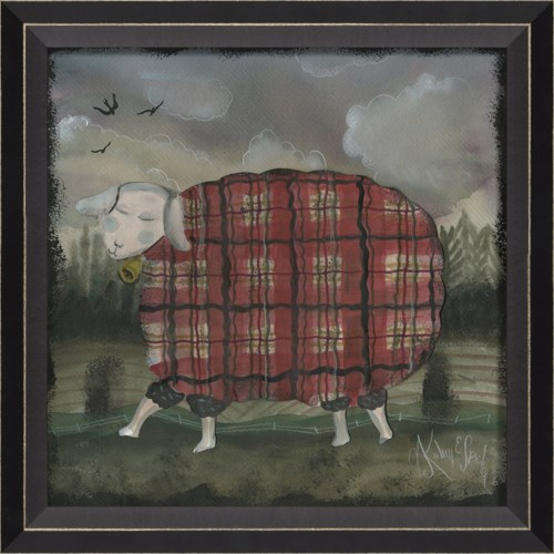 BC Sheep in Red Plaid