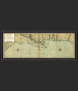 BCBL Mexico Gulf Coast Map 1732