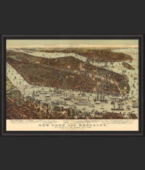BCBL New York and Brooklyn 1892 28x40