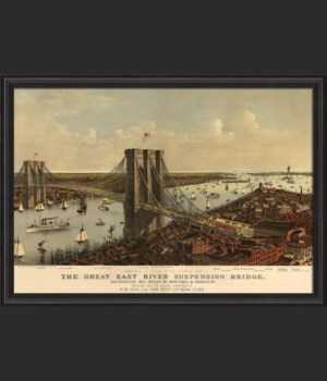 BCBL The Great East River Suspension Bridge 1885 28x40