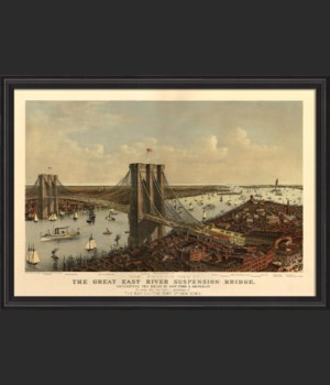 BCBL The Great East River Suspension Bridge 1885 28x40 with border