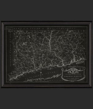 BC Connecticut 1797 Map on Black