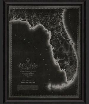 BC Florida 1816 Map on Black