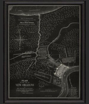 BC New Orleans 1875 Map on Black