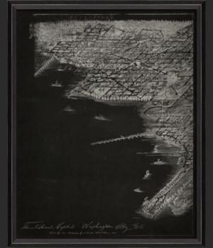 BC Washington DC 1883 Map on Black