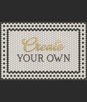 Mosaic Customized 8th Ave with Gold script 24x36
